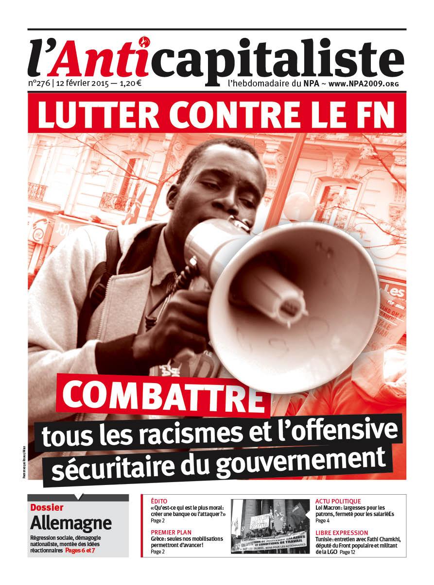 L'Anticapitaliste Hebdo n° 276 à télécharger en PDF