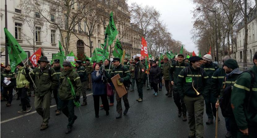 Office national des for ts succ s de la gr ve et de la manifestation paris npa - Office national des forets ...