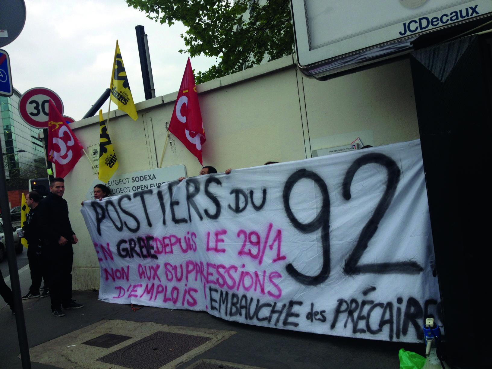 Trois mois de grève des postiers/ères des Hauts-de-Seine