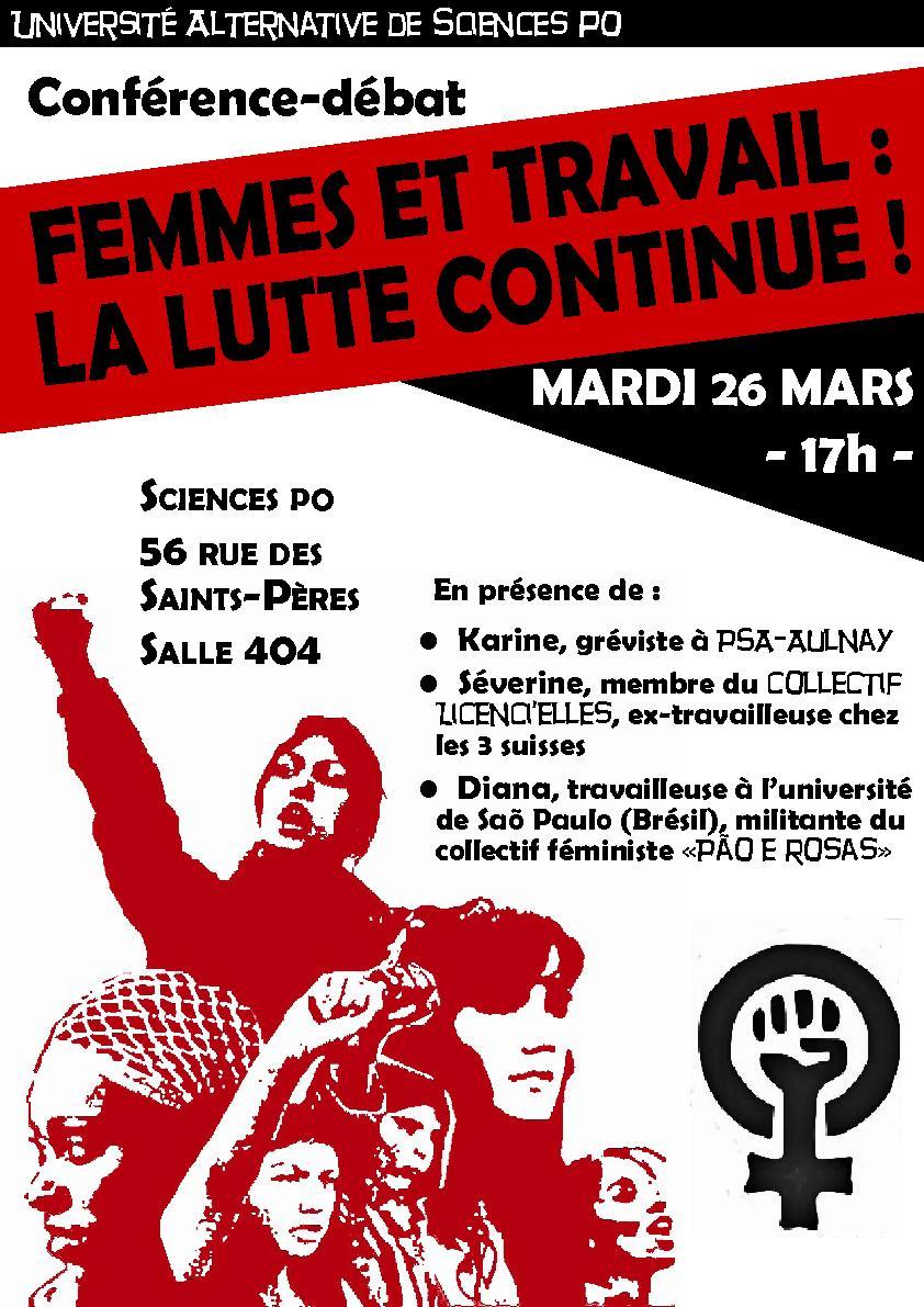 Image Paris - Conférence-Débat   Femmes et travail   la lutte continue !  17h   NPA 5163c60a084