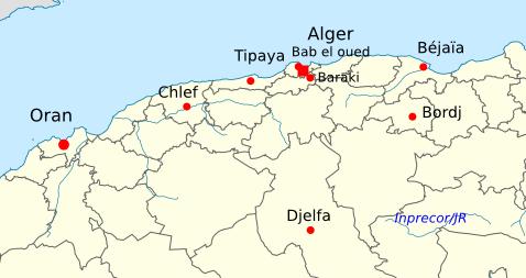 Carte Algerie Tipaza.Tipaza Algerie Carte Mismis