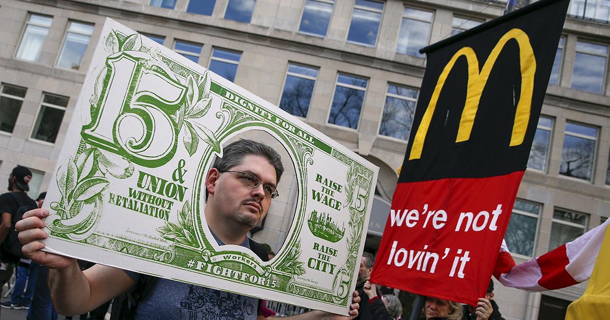 USA : la plus grande manifestation des travailleurs à bas salaire
