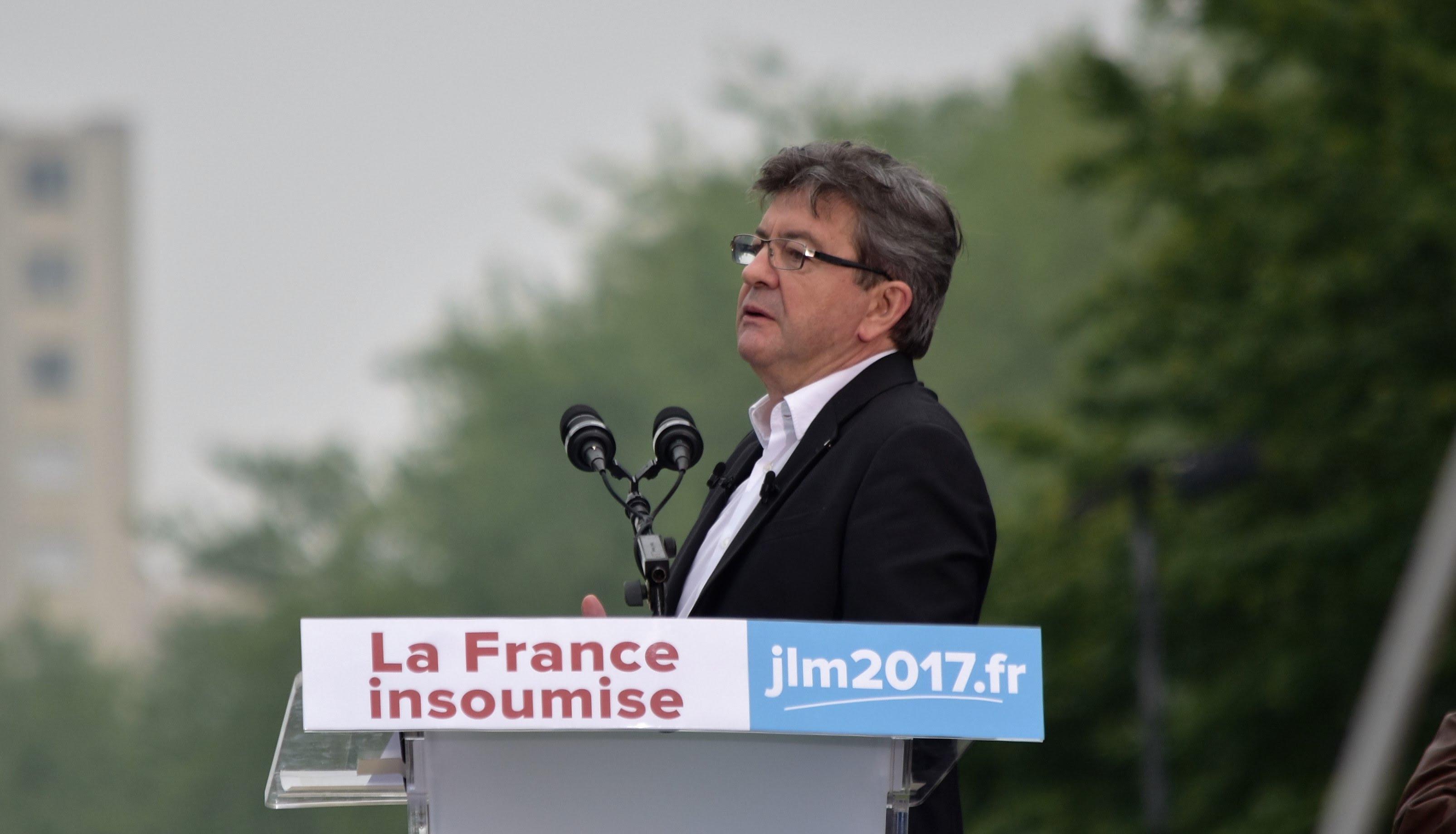 Image result for melenchon et le patriotisme