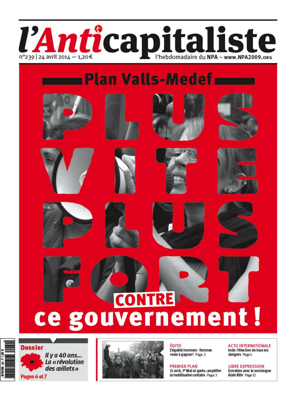 Résistance au gouvernement bourgeois - Page 16 Antik239_la_une-1_0