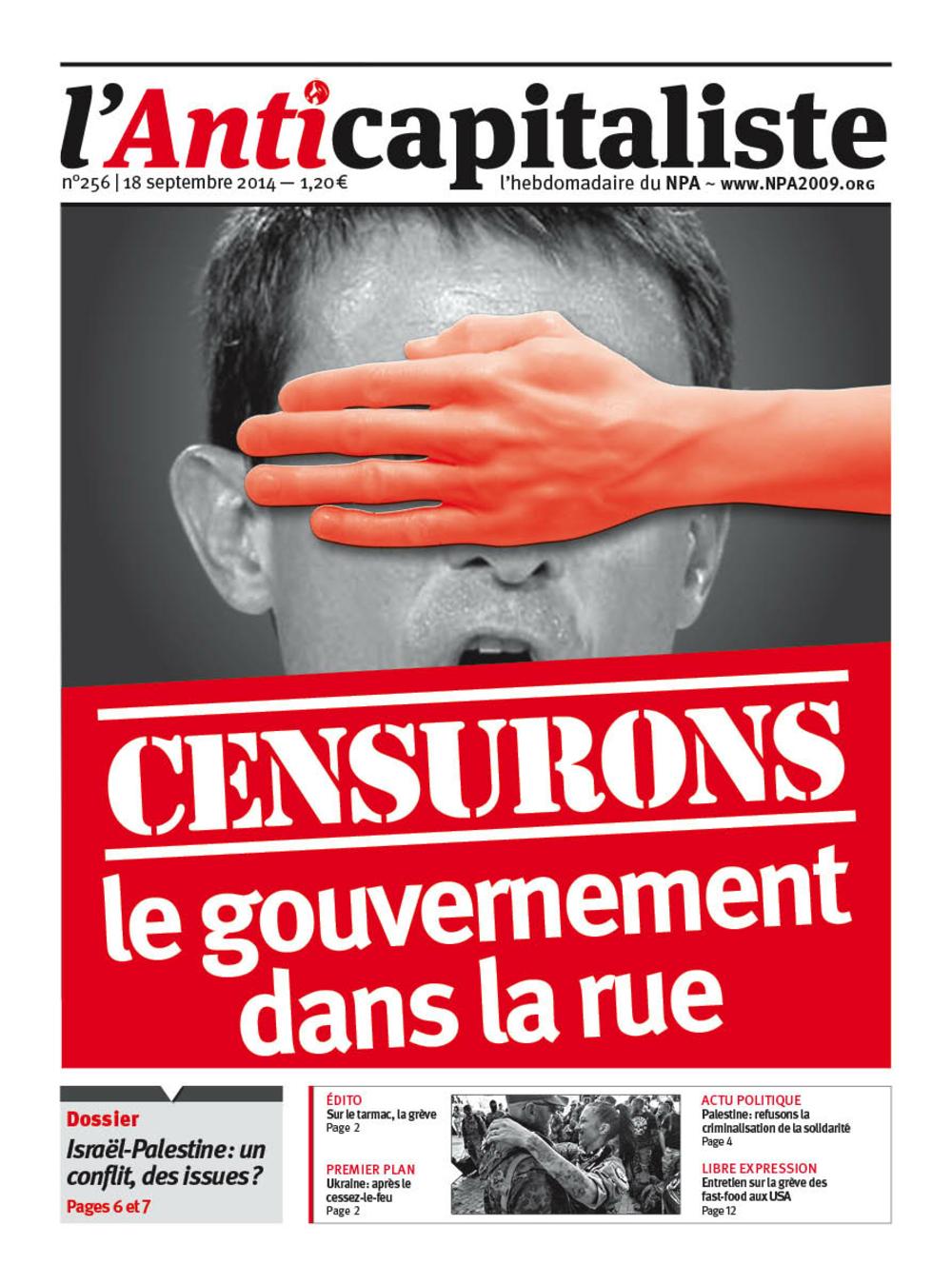 Résistance au gouvernement bourgeois - Page 18 Antik256_la_une