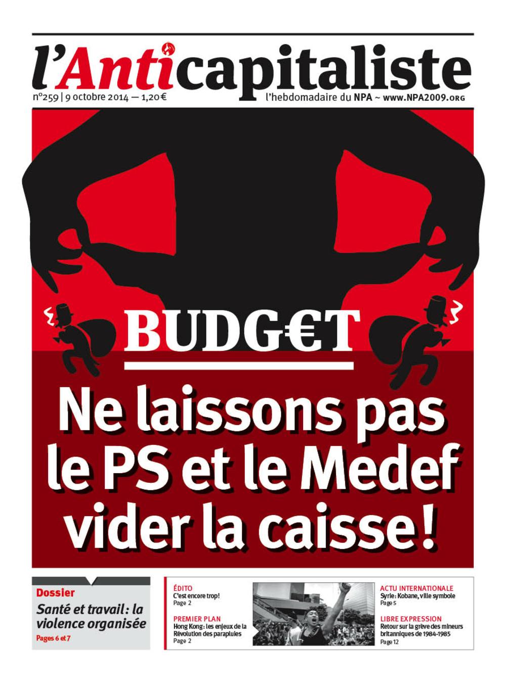 Résistance au gouvernement bourgeois - Page 19 Antik259_la_une