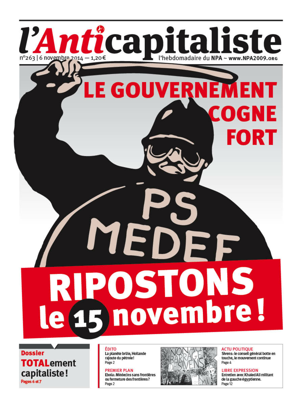 Résistance au gouvernement bourgeois - Page 19 Antik263_la_une