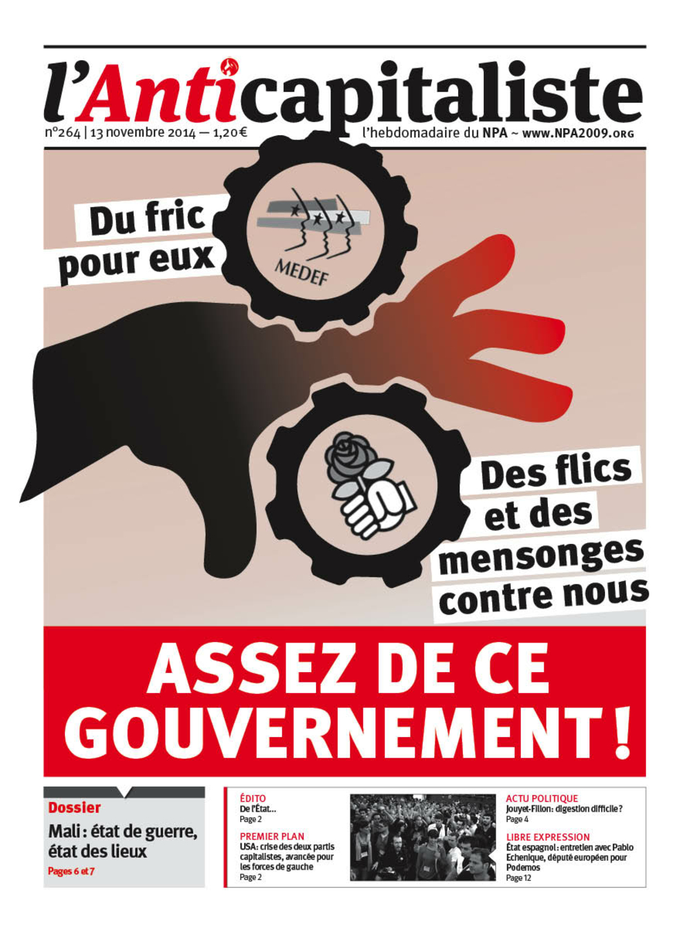 Résistance au gouvernement bourgeois - Page 19 Antik264_la_une