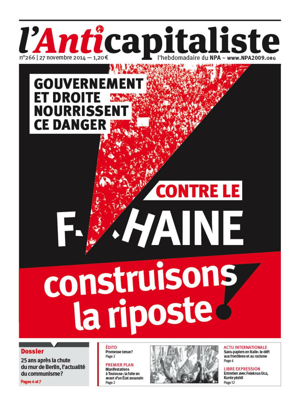 Résistance au gouvernement bourgeois - Page 20 Antik266_la_une