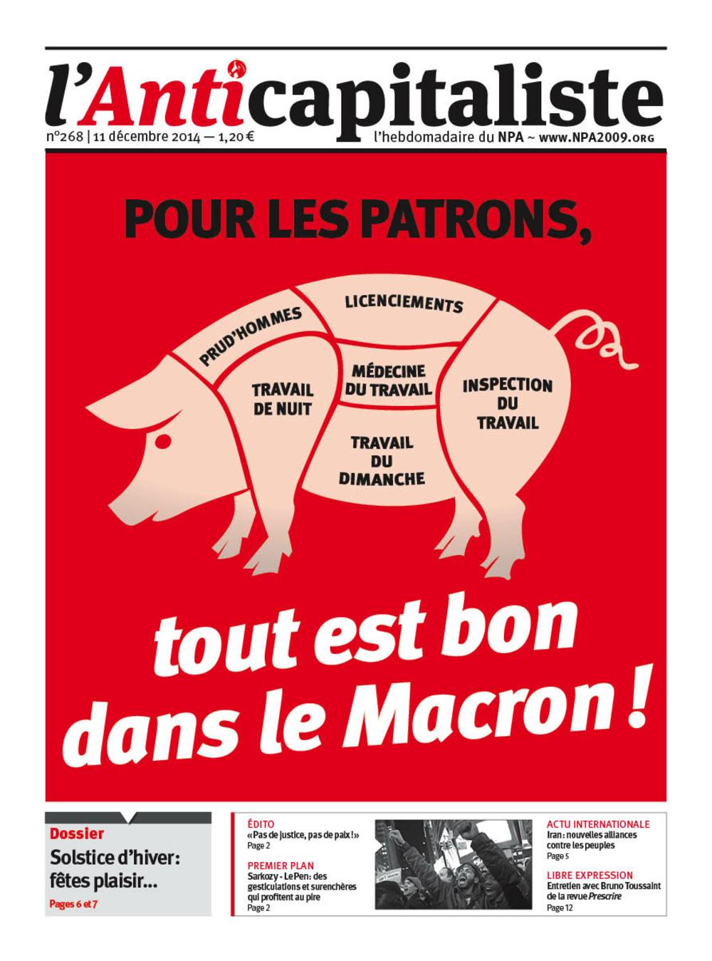 Résistance au gouvernement bourgeois - Page 20 Antik268_la_une
