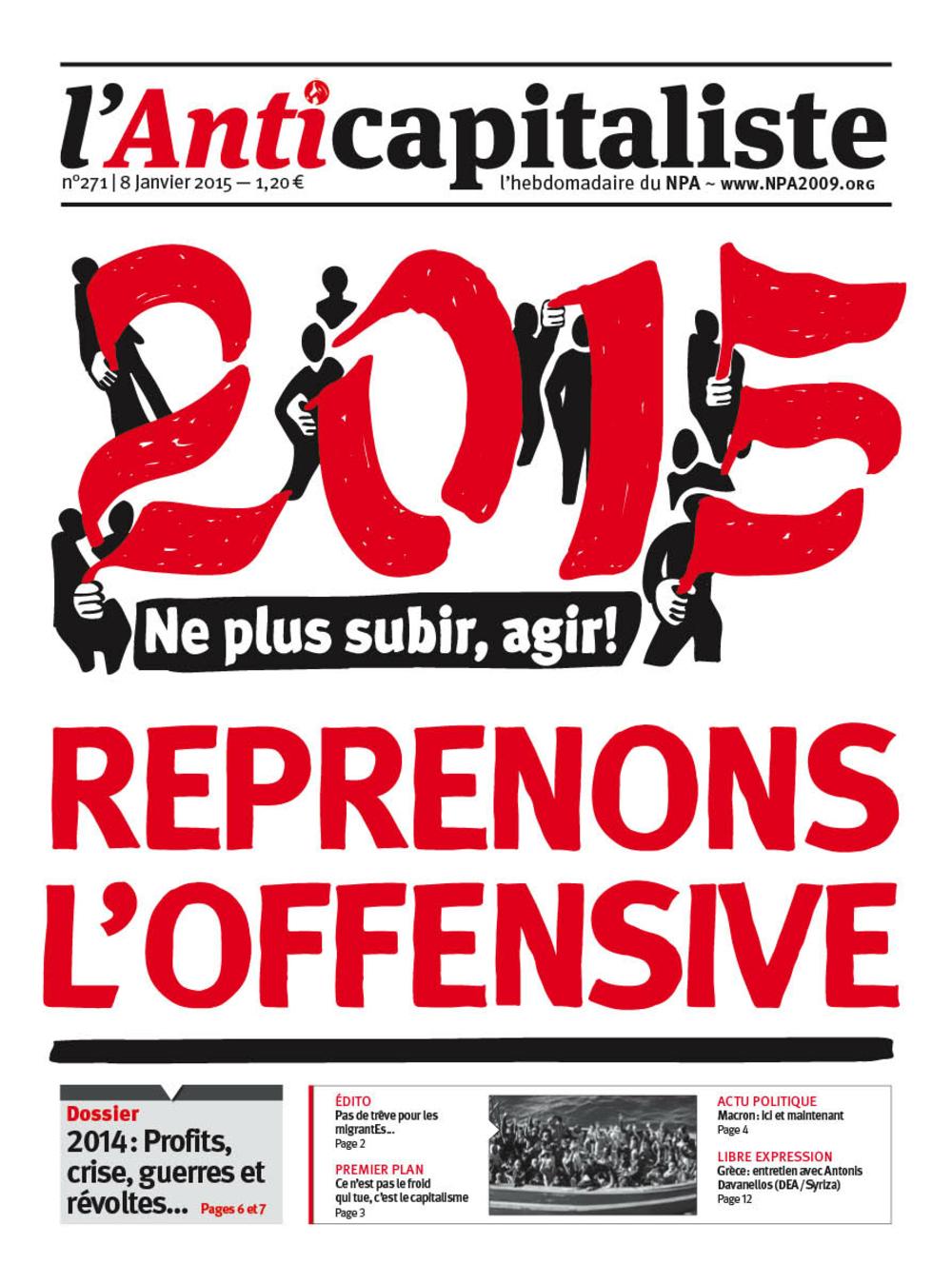 Résistance au gouvernement bourgeois - Page 20 Antik271_la_une