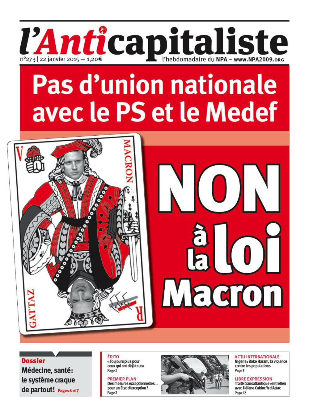 Loi Macron Antik273_la_une